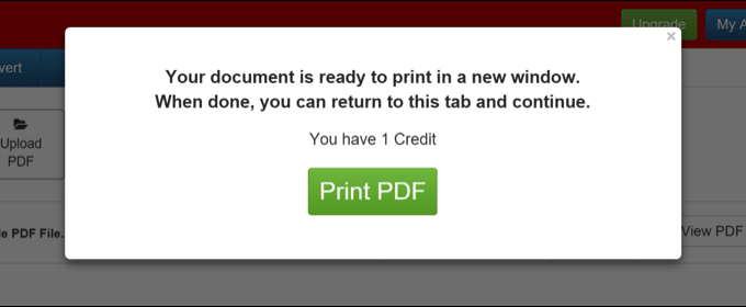 print a file as PDF with PDF Pro